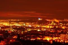 Brno in night. Night view on Brno, czech republic royalty free stock image