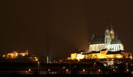 Brno in the night royalty free stock photography