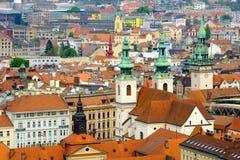 Brno oud de stadslandschap van de dagtijd Royalty-vrije Stock Fotografie