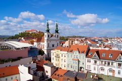 Brno panorama with Spilberk Castle stock image