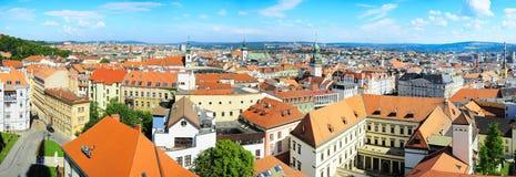 Brno. Panoramic view of Brno city, Czech Republic royalty free stock image