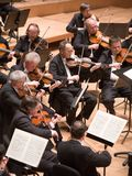 Brno Philharmonic Orchestra perform. Members of the Brno Philharmonic Orchestra perform on Stock Images