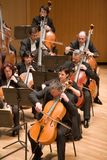 Brno Philharmonic Orchestra perform. Members of the Brno Philharmonic Orchestra perform on Stock Photography