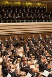 Brno Philharmonic Orchestra perform. Members of the Brno Philharmonic Orchestra perform on Royalty Free Stock Photos
