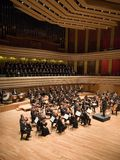 Brno Philharmonic Orchestra perform. Members of the Brno Philharmonic Orchestra perform on Stock Image