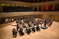 Brno Philharmonic Orchestra perform Royalty Free Stock Photography