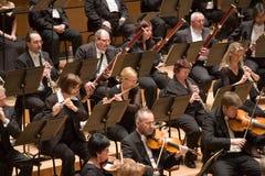 Brno Philharmonic Orchestra perform. Members of the Brno Philharmonic Orchestra perform on Stock Photos