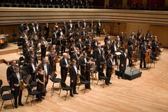 Brno Philharmonic Orchestra perform Stock Photos
