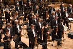 Brno Philharmonic Orchestra perform Royalty Free Stock Photo