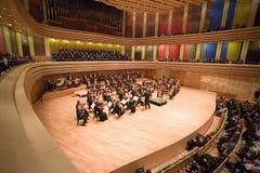 Brno-philharmonisches Orchester führen durch Stockbild