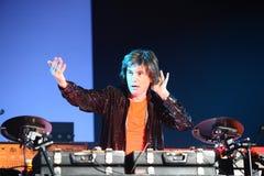 BRNO, RÉPUBLIQUE TCHÈQUE, 12 NOVEMBRE : Concert sous tension de Photo stock