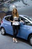 Hôtesse de Hyundai sur l'affichage à la 11ème édition d'Autosalon international Brno Photographie stock