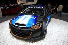 Hyundai i20 WRC sur l'affichage à la 11ème édition d'Autosalon international Brno Photo libre de droits