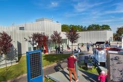 BRNO, REPÚBLICA CHECA - 11 DE MAIO DE 2017: O obervatório foi construído em 1953 e promovido em 2011 Trabalha como uma leitura e  Imagens de Stock Royalty Free
