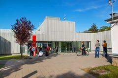 BRNO, REPÚBLICA CHECA - 11 DE MAIO DE 2017: O obervatório foi construído em 1953 e promovido em 2011 Trabalha como uma leitura e  Imagens de Stock