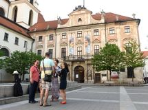 Brno, República Checa - 31 de mayo de 2017: Galería de Moravian, ` del gobernador imagen de archivo libre de regalías