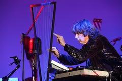 BRNO, REPÚBLICA CHECA, NOVEMBRO 12: Concerto vivo de Imagens de Stock Royalty Free