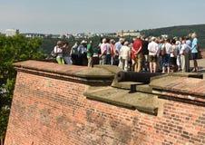 Brno, republika czech - Czerwiec 01, 2017: Turyści w Spilberk Castl Obraz Stock