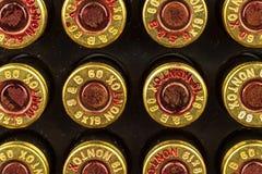 BRNO, republika czech -15 Lipiec, 2017: Amunicyjny kaliber 9x19mm Sellier & Bellot produkowaliśmy amunicje w republika czech grze Zdjęcia Stock