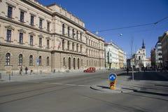 brno som bygger konstitutionell domstoltjeck Royaltyfri Bild