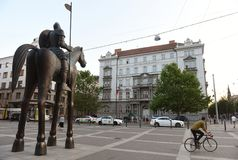 Brno Tjeckien - Maj 31, 2017: Suveräna administrativa Cou Arkivfoto