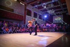 Brno Tjeckien - September 30th 2017: Brasiliansk dansshow av begåvade dansare Fotografering för Bildbyråer