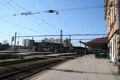 Brno train station_old platform Royalty Free Stock Image