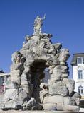 Brno, trh vierkante fontein Zelny royalty-vrije stock afbeeldingen