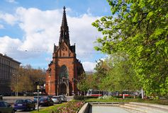Brno, Tschechische Republik, am 16. April 2017: Die evangelische Kirche, Süd-Moray, Tschechische Republik Stockfotos