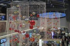 Brno, Tsjechisch 12,2014 republiek-december: Kerstmisdecoratie bij s Stock Fotografie