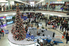 Brno, Tsjechisch 12,2014 republiek-december: Kerstmisdecoratie bij s Royalty-vrije Stock Fotografie