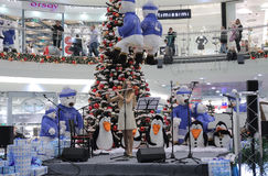 Brno, Tsjechisch 12,2014 republiek-december: Kerstmisdecoratie bij s Royalty-vrije Stock Foto