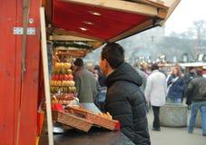 Brno, Tsjechisch 12,2014 republiek-december: Kerstmismarkt in Moravië Royalty-vrije Stock Foto's