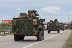 Brno, Tsjechisch 30,2015 republiek-Maart: Dragoonrit - het legerkonvooi van de V.S. Royalty-vrije Stock Afbeelding