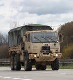 Brno, Tsjechisch 30,2015 republiek-Maart: Dragoonrit - het legerkonvooi van de V.S. Stock Foto's