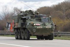 Brno, Tsjechisch 30,2015 republiek-Maart: Dragoonrit - het legerkonvooi van de V.S. Royalty-vrije Stock Foto