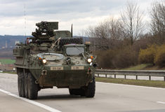 Brno, Tsjechisch 30,2015 republiek-Maart: Dragoonrit - het legerkonvooi van de V.S. Royalty-vrije Stock Fotografie