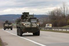Brno, Tsjechisch 30,2015 republiek-Maart: Dragoonrit - het legerkonvooi van de V.S. Stock Fotografie