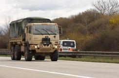 Brno, Tsjechisch 30,2015 republiek-Maart: Dragoonrit - het legerkonvooi van de V.S. Royalty-vrije Stock Afbeeldingen