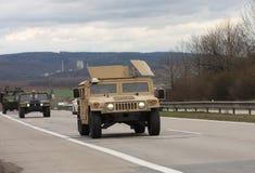 Brno, Tsjechisch 30,2015 republiek-Maart: Dragoonrit - het legerkonvooi van de V.S. Stock Foto