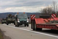Brno, Tsjechisch 30,2015 republiek-Maart: Dragoonrit - het legerkonvooi van de V.S. Royalty-vrije Stock Foto's