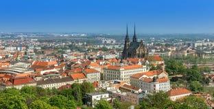 Brno. View of Brno center, Moravia ,Czech Republic stock photo