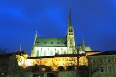 Brno w nocy Zdjęcia Stock