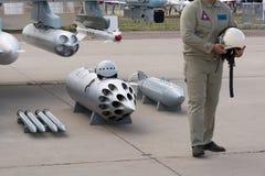 Broń myśliwiec i pilot fotografia royalty free