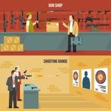 Broń pistoletów sztandary royalty ilustracja