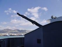 Broń Radziecki lekki krążownik Mikhail Kutuzov Novorossiysk, Rosja Obrazy Stock