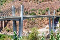 Bro över blå Nilen Royaltyfria Foton