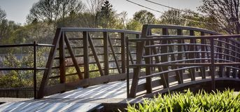 Bro över dåliga Little Falls arkivbild