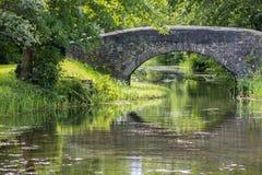 Bro över den Neath kanalen arkivbild