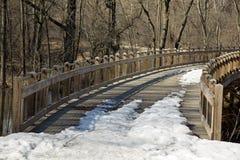 Bro över floden Royaltyfri Fotografi